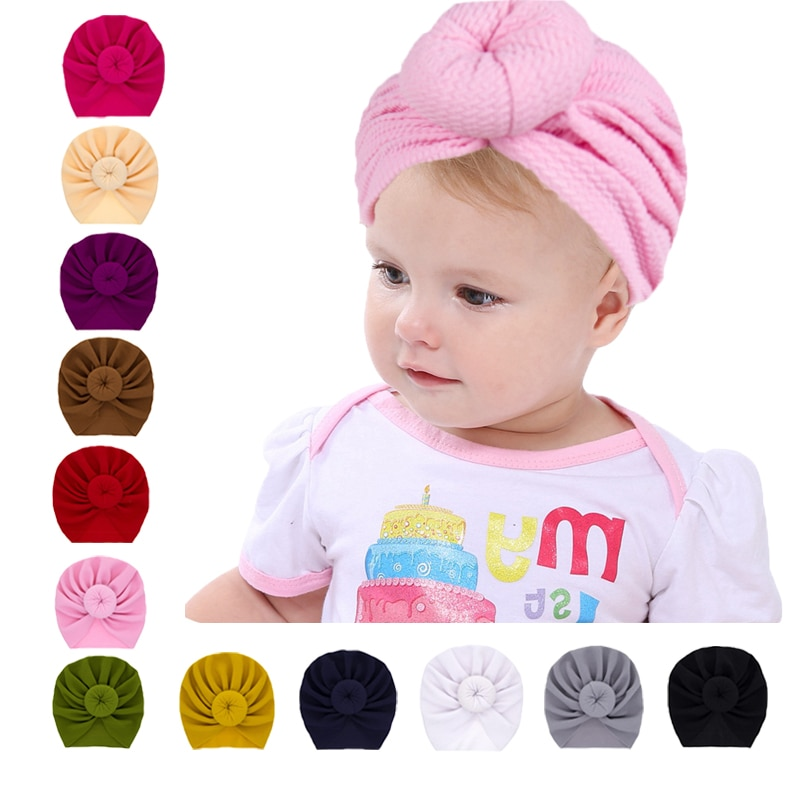 1 Uds venda del bebé para las niñas turbante niño niños de Headwarp bebé niñas niños diadema India bebé primavera sombreros de verano