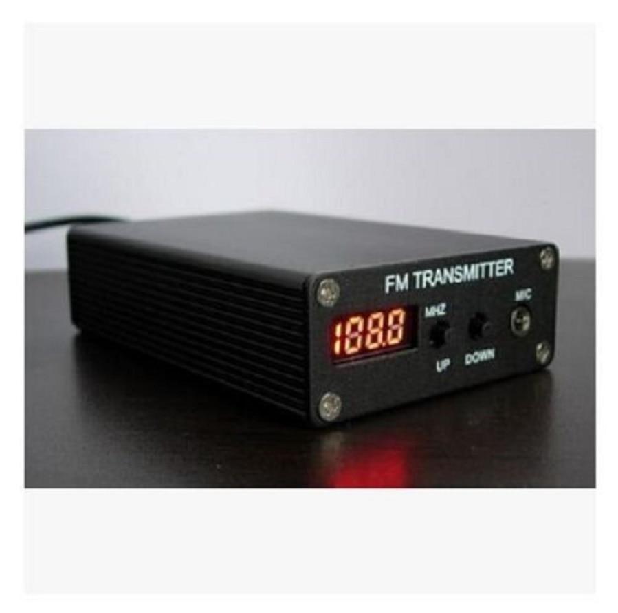 محطة راديو صغيرة مزودة بجهاز إرسال استريو ، 1 ميجاوات ، 87-109 ميجاهرتز ، PLL FM ، MP3 ، مصدر طاقة ، هوائي