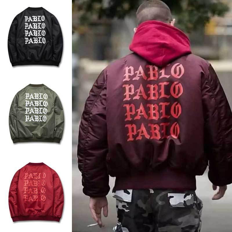 2018 Autumn Winter Pablo kanye west GD Jacket I Feel Like Paul Flight Suit Cotton Jackets air force couple Ma1 Jacket Men  Women