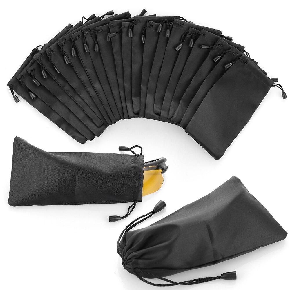 Bolsa de gafas de sol de paño suave portátil negro de 5 uds. Bolsa de almacenamiento impermeable de polvo de microfibra bolsa de transporte de gafas estuche de gafas contenedor