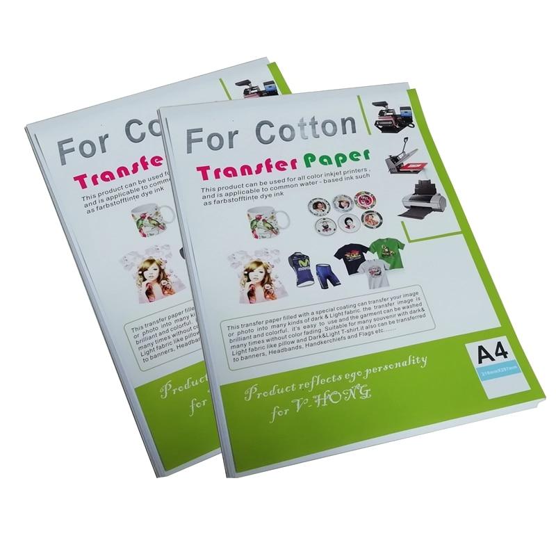 Легкая цветная белая футболка формата А3 и А4, термопереводная бумага, струйный принтер, сублимационная хлопковая бумага «сделай сам» для од...