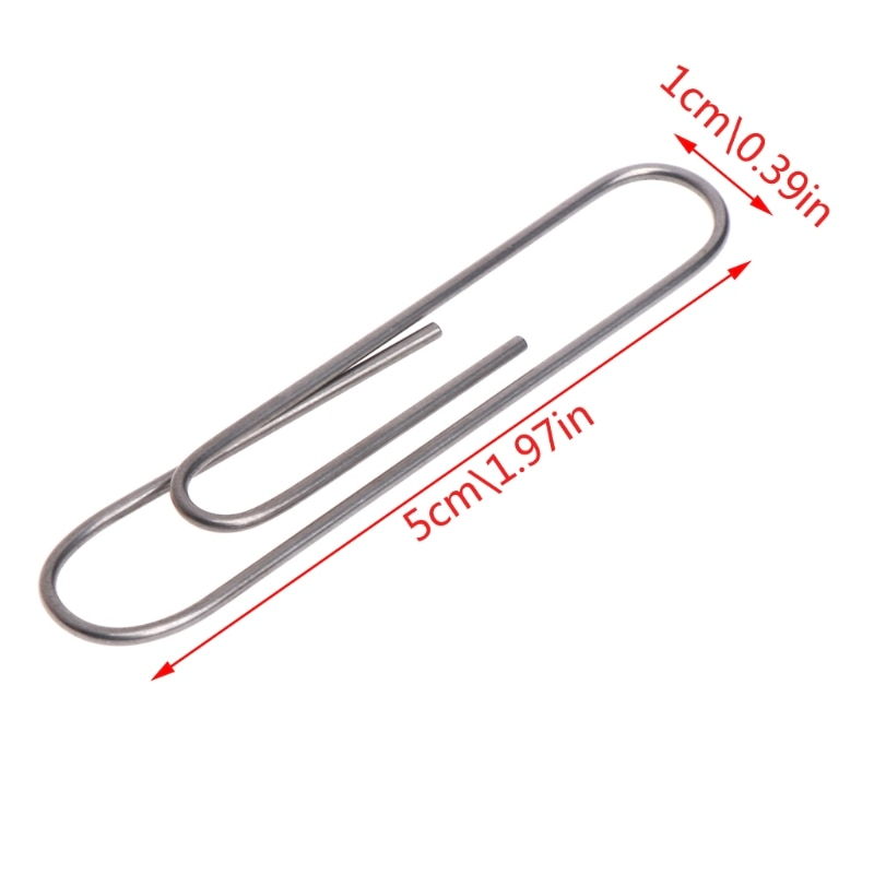 1PC Kids Classic Toys Self Bending Paperclip Nitinol Shape Memory Shift Magic Trick