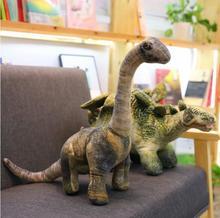 1 pc simulation diplodocus stegosaurus tyrannosaurus rex stinger dinosaure doux en peluche poupée oreiller coussin créatif en peluche
