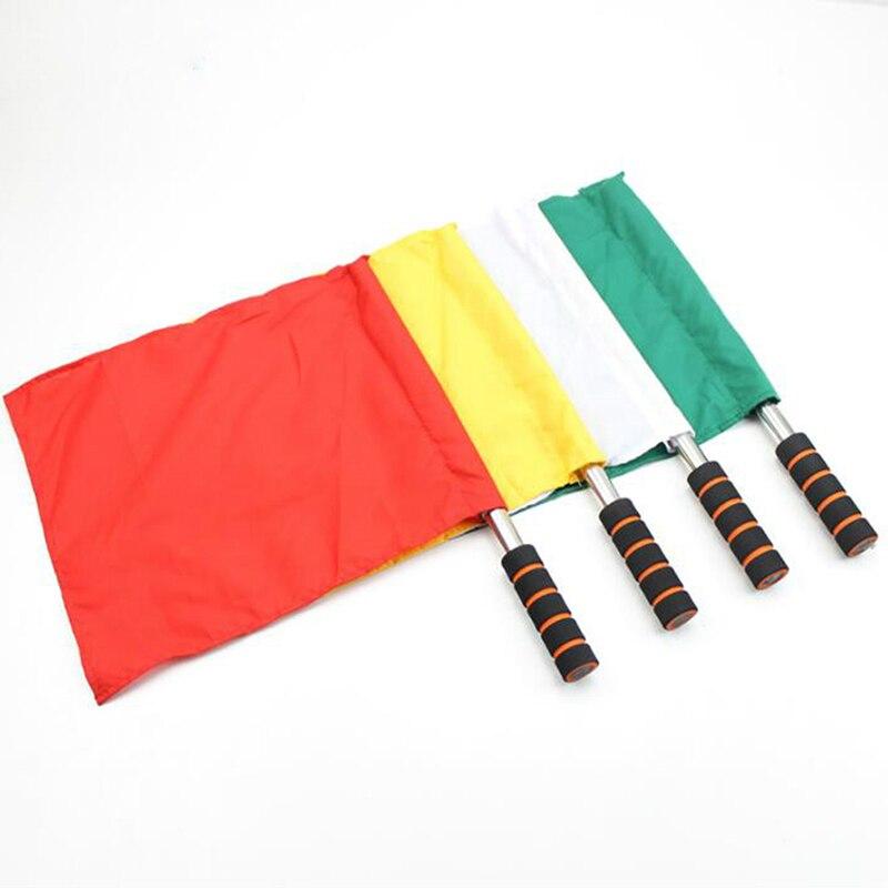 Bandera de comando especial de árbitro de competición de pista y campo, Bandera de comando de acero inoxidable, Bandera de referí de fútbol