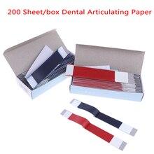 200 hoja/caja Dental papel articulado tiras azules Material blanqueador herramienta Dental laboratorio productos Oral Dentista cuidado de los dientes