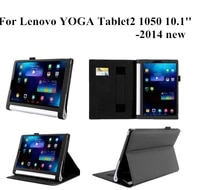 2014 new for yoga tablet 2 10 1 stand leather case for lenovo yoga tablet 2 1050f leather cover case