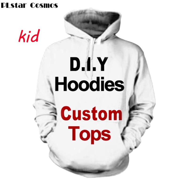 PLstar Cosmos DIY junge mädchen personalisierte voller druck 3d hoodies kinder/mädchen pullover sweatshirt hoodies anpassen Plus größe S-5XL