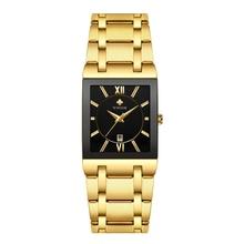 Golden Watches for Men Luxury Brand New WWOOR Watch Business Men's Clock Fashion Quartz Stainless Steel Wristwaches Waterproof