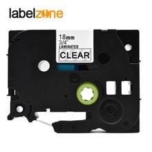 18mm tze141 preto na fita de etiqueta clara compatível irmão p-touch impressoras tze fita laminada tze-141 tz-141 tz141 tze141 fita