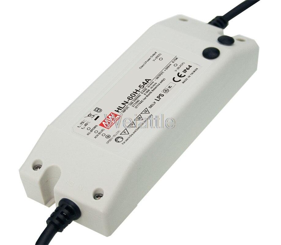 Decir bueno original HLN-60H-20B 20V 3A HLN-60H 20V 60W IP67 solo LED de salida PWM controlador de atenuación de alimentación tipo B