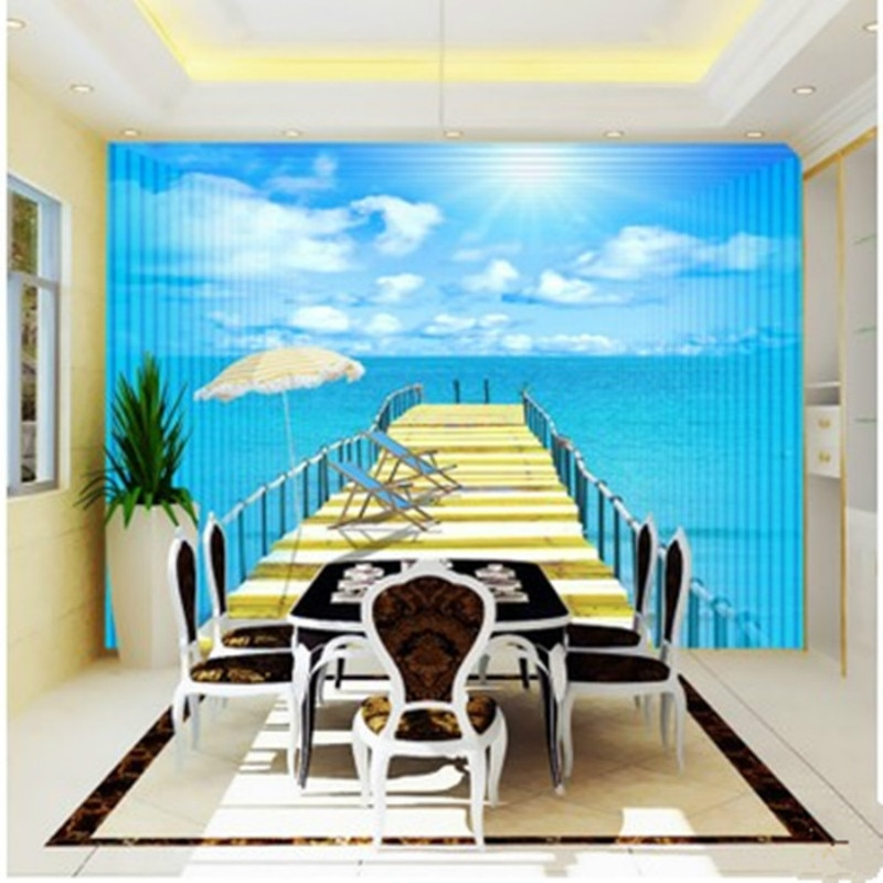 Мода экологичные тканые водонепроницаемые большие фрески 3D обои диван стене
