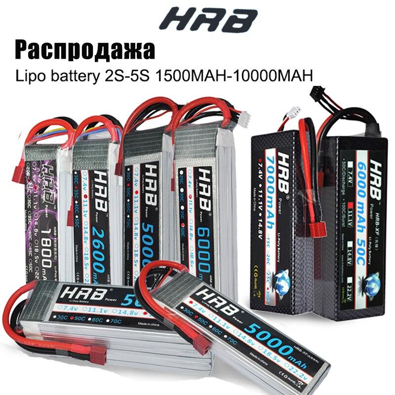 HRB RC batería Lipo 2S 3S 4S 6S 11,1 v 22,2 v 5000mah 6000mah 3300mah 2200mah 4200mah 5200mah 7000mah batería de la batería XT60-T decanos macho