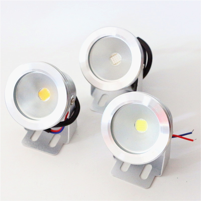 Luz de piscina LED AC / DC 12V, 20mA, 10W, 700LM, resistente al agua IP67, lámpara de paisaje al aire libre en blanco/blanco cálido/RGB