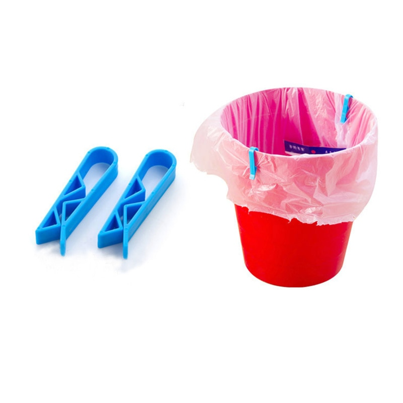 12 Uds tacho de basura para el hogar Edge Bag Fix Pin papeleras cubo de basura Clip de cubo de basura antideslizante tacho de basura abrazaderas de bolsas de basura