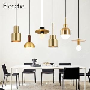 Nordic Gold Pendant Lights Modern Kitchen Dining Room Pendant Lamp Home Decor Loft Hanging Light Fixtures for Living Room Lamp