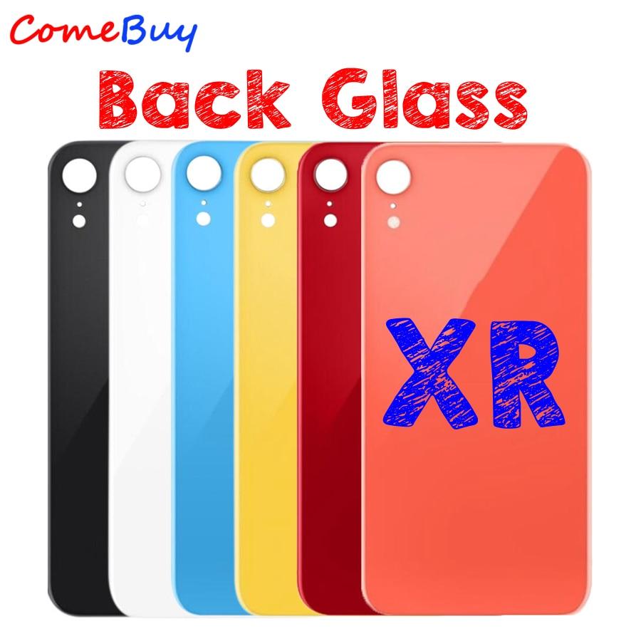 Para Apple iPhone XR cubierta trasera de la batería de cristal puerta trasera funda carcasa para iPhone XR parte posterior del Panel de la cubierta de cristal piezas de repuesto