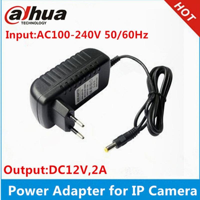Адаптер питания для ip-камеры dahua, ip-камера Hikvision, 12 В, 2 А