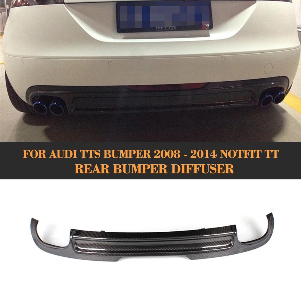 Задний диффузор из углеродного волокна, для Audi TT 8J, Стандартный, не для США, 2008-2010, задний диффузор, спойлер, черный, ПУ