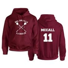 Teen Wolf Hoodie Mannen Mccall 11 Lacrosse Stilinski 24 Lahey 14 Print Pullover Heren Hoddies Rood Kap Sweatshirts Vrouwen Anime hodie