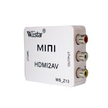 Convertisseur vidéo Mini HD HDMI vers RCA AV/CVSB L/R vidéo 480P 720P 1080P HDMI2AV prise en charge de la sortie NTSC PAL adaptateur HDMI vers AV
