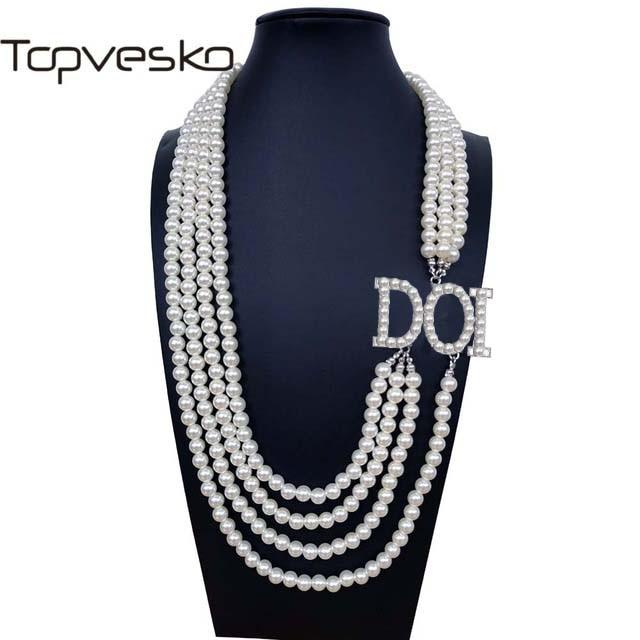 منتجات الضريح والماسون T30 بنات إيزيس دوي الابنة D.O.I. OES-عقد من اللؤلؤ ، مجوهرات متعددة الطبقات