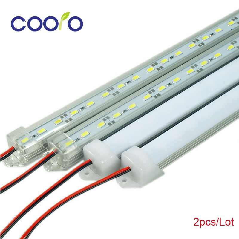LED Bar Lichter DC12V 5630 5730 LED Streifen Weiß Cold White Warm Weiß LED Rohr mit U Aluminium Shell + PC Abdeckung 2 teile/los