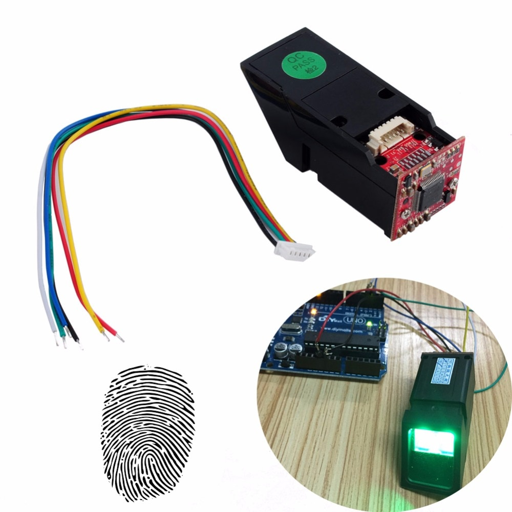 RCmall Grün Licht Optische Fingerprint Reader Sensor Modul für Arduino Mega2560 UNO R3 FZ1035G DIYmall