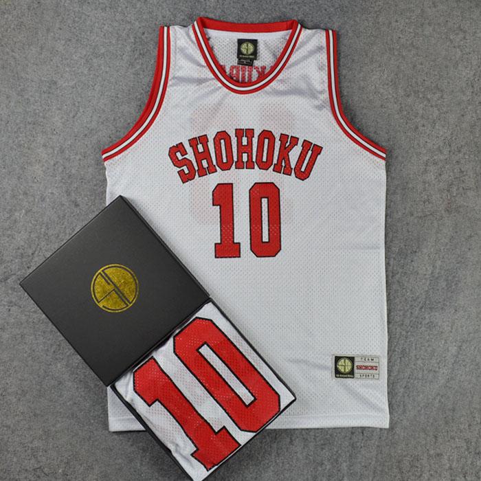 Disfraces de Cosplay SLAM DUNK Shohoku NO1-15 Sakuragi Hanamichi, camiseta blanca para equipo de baloncesto