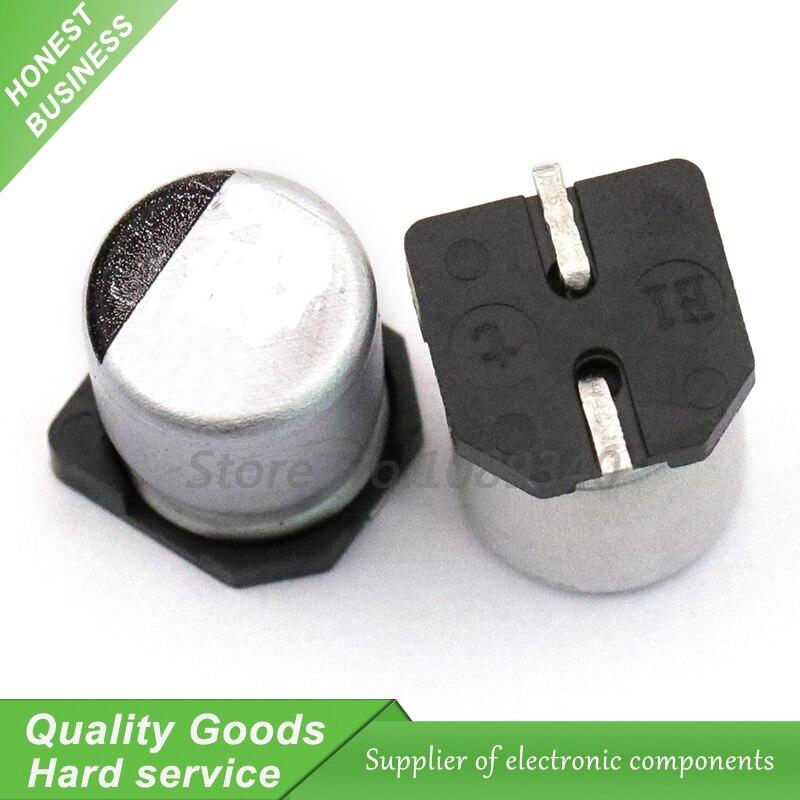 10pcs 16V33UF 5*5.5 milímetros SMD alumínio capacitor eletrolítico uf 33 16v 16V33UF-SMD