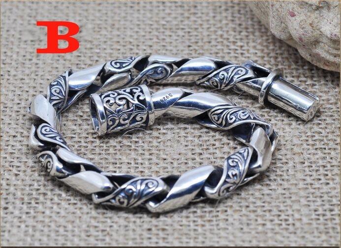 jewelry silver bracelet retro European pop Wristlet exaggerated fashion men's bracelet tangcao personality pattern