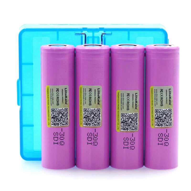 Liitokala original 3,7 v 30Q INR18650 batterie inr18650 lithium-batterie angetrieben durch akku 3000 mah + BOX