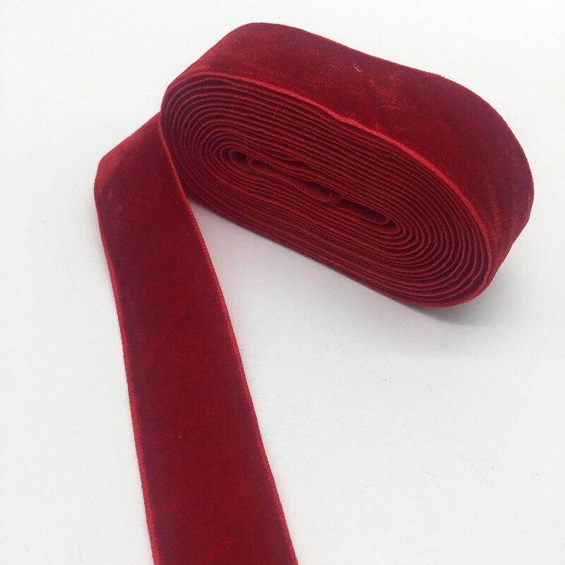 """Ruban de velours 3 Yards 1 """"(25mm), ruban pour décoration de fête de mariage, fait à la main pour emballage cadeau et noël, pour bricolage"""