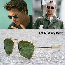 JackJad New Fashion Army MILITARY AO Pilot 54mm Sunglasses Brand American Optical Glass Lens Sun Gla