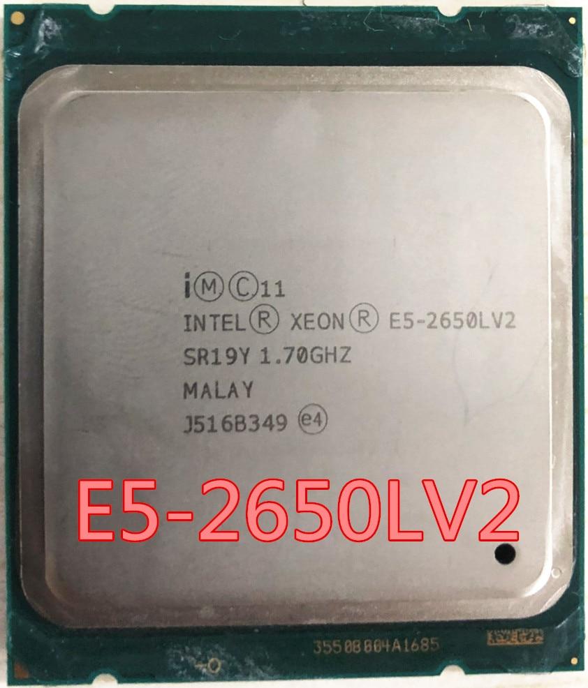 Intel Xeon CPU SR19Y E5-2650LV2 1.70GHz 10-Core 25M LGA2011 E5-2650LV2 E5 2650L V2 E5-2650L V2 processor frete grátis