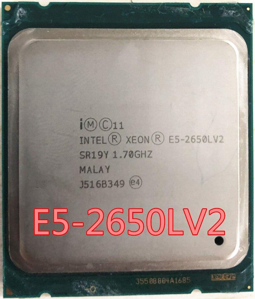 Intel Xeon E5-2650LV2 CPU SR19Y 1,70 GHz 10-Core 25M LGA2011 E5-2650LV2 E5 2650L V2 procesador, envío gratis, E5-2650L V2