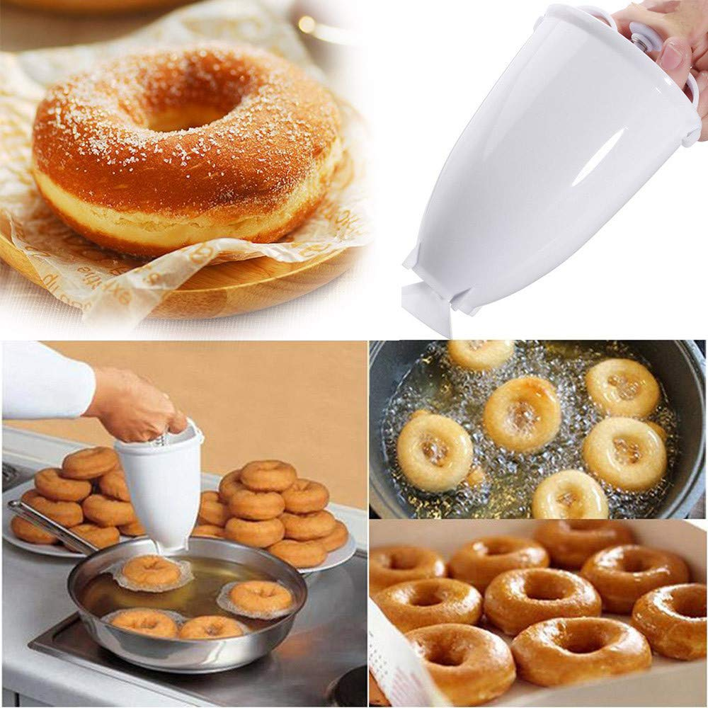 Donut Maker Plastic Light Weight Dispenser Deep Fry Donut Mould Easy Fast Portable Arabic Waffle Doughnut Gadget Drop Shipping