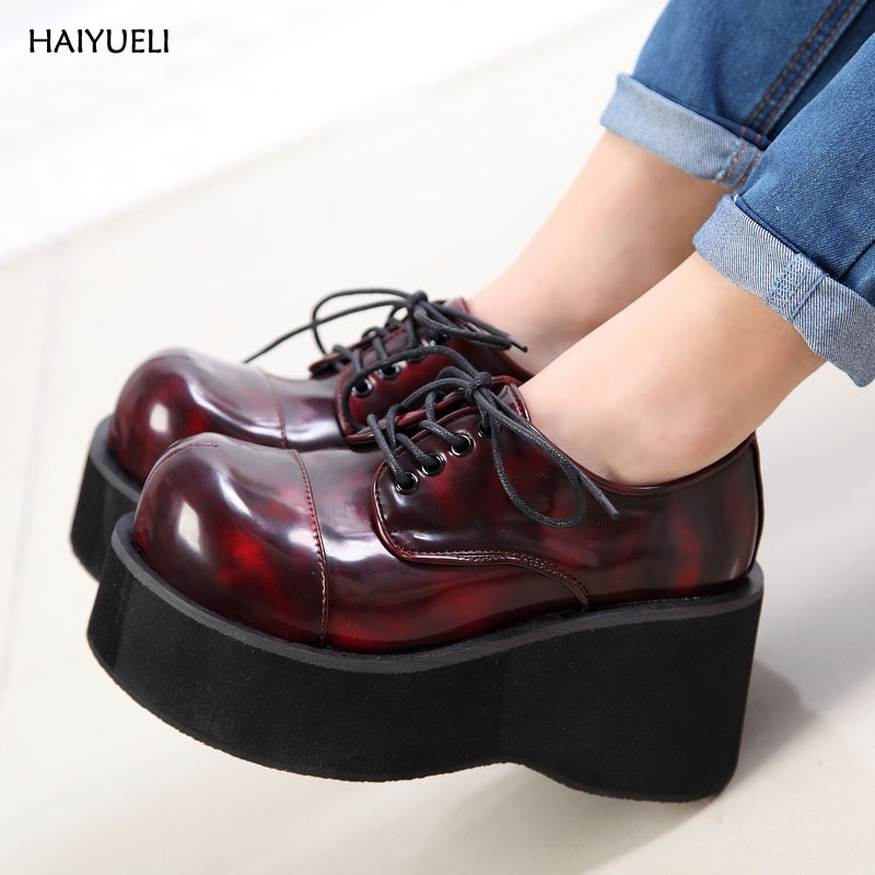 Women Booties Imitations Demonia Ankle Motorcycle Boots Goth Punk Style Creeper Shoes Womens Platform Wedge Boots Black Boots botines de mujer punk style martin boots fashion high wedges platform lace up ankle boots black motorcycle boots wedge shoes
