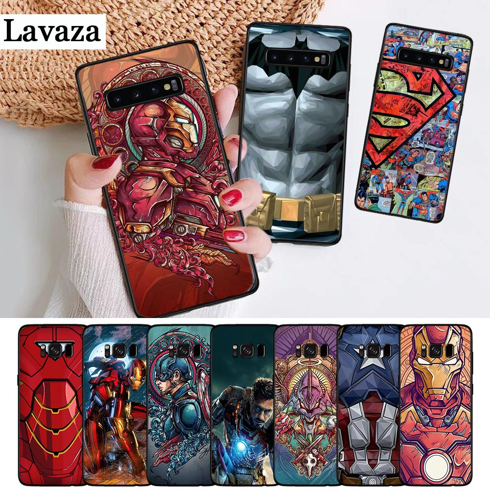 Marvel Capitán América de hombre de hierro funda de silicona para Samsung S6 borde S7 S8 más S9 S10 S10e M10 M20 M30 M40