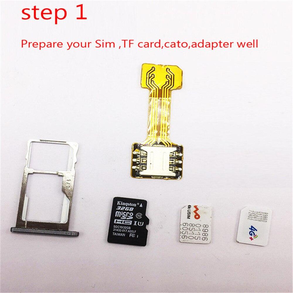 100Pcs Hybrid Dual SIM Card Micro SD TF Adapter for Xiaomi for Samsung Huawei Double 2 Nano Mini Micro SIM Slot Wireless Adapter enlarge