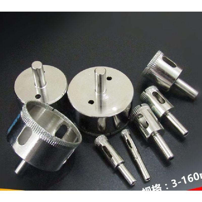 15-25mm 6 uds cuentas redondas de diamante de descascarar esmeril de arena rueda de carborundo Tapper taladro para agujeros abierto brocas broca de cristal