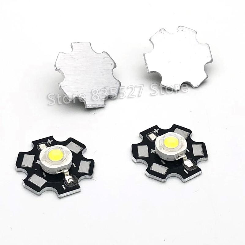 2 uds 3W blanco LED disipador de calor placa Base de aluminio PCB tablero sustrato 20mm LM partes/linterna/bombilla foco para luces DIY