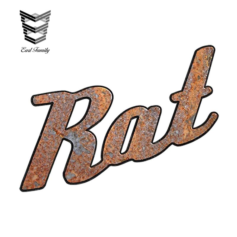 "EARLFAMILY 12cm X 9cm Car Sticker Waterproof Graphics Rat Rod ""Rat"" Decal Vintage Car Emblem Style Car Styling Accessories"