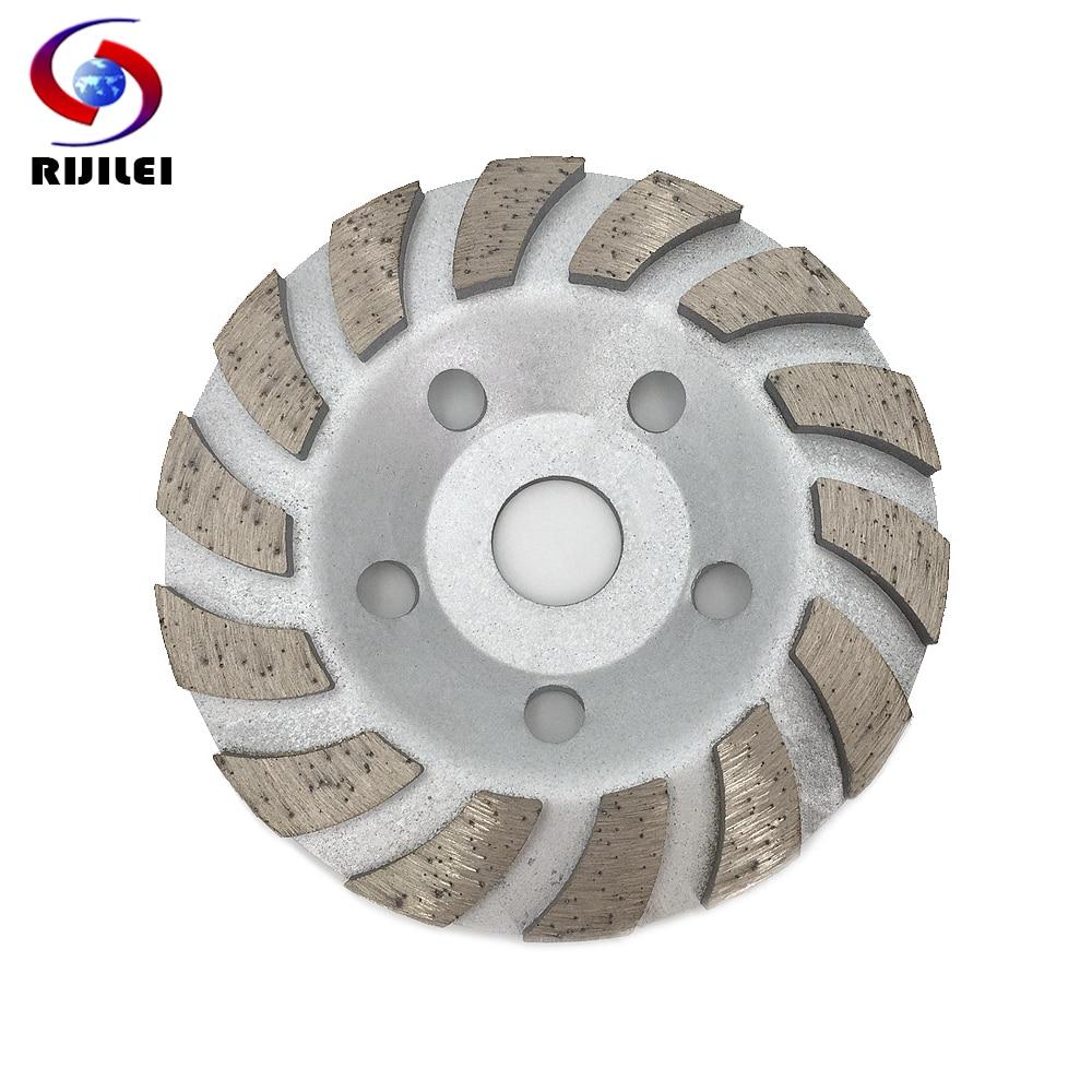 RIJILEI 5 дюймов алмазные шлифовальные круги с 125 мм строки турбо алмазный шлифовальный диск Мрамор абразивные диски для полировки камня Pad HC02