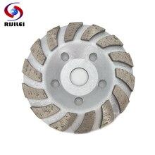 RIJILEI 5inch Diamond grinding cup 125mm Turbo Row Diamond Grinding Wheel disc Marble Abrasive pad for stone Polishing pad HC02