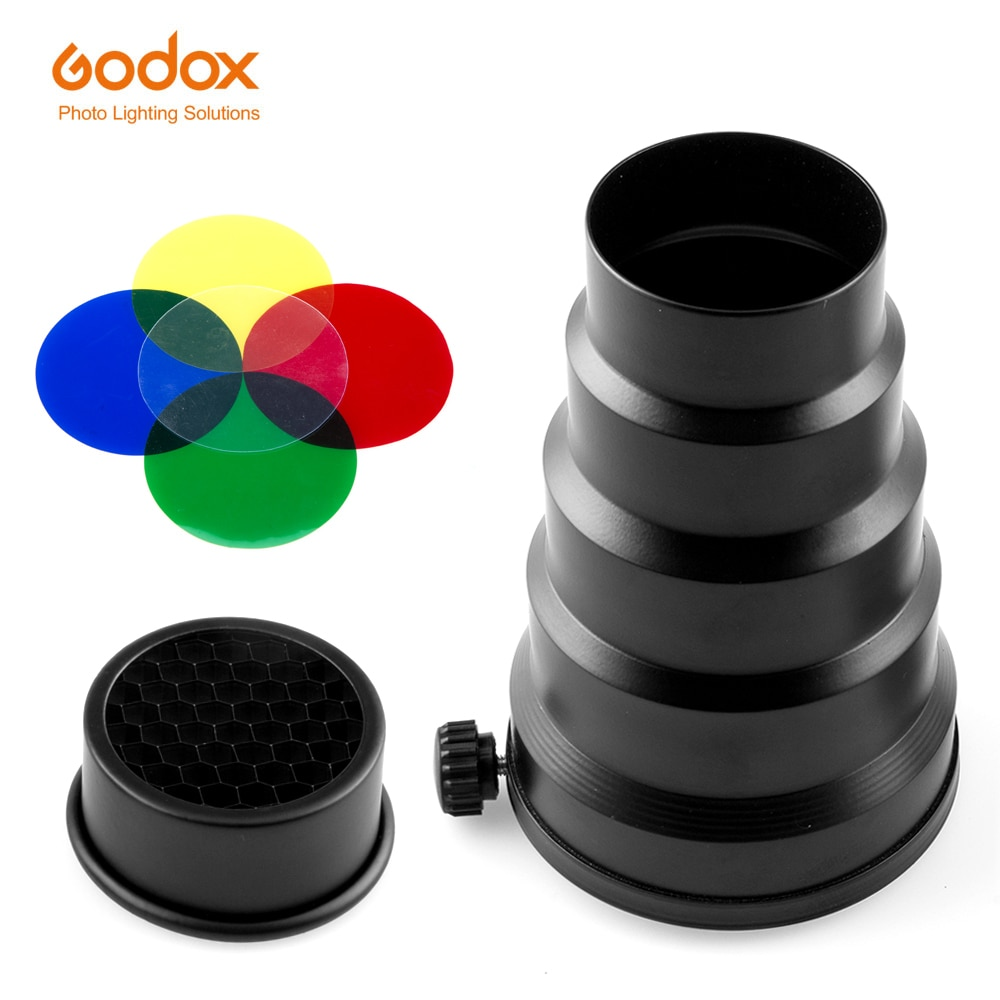GODOX SN-02 Montura Universal Snoot panal profesional para Flash de estudio Godox K-150A 250SDI 300SDI E250 E300