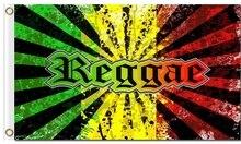 Jamaica Rasta Reggae музыкальные цвета 3x5ft полиэфирные флаги