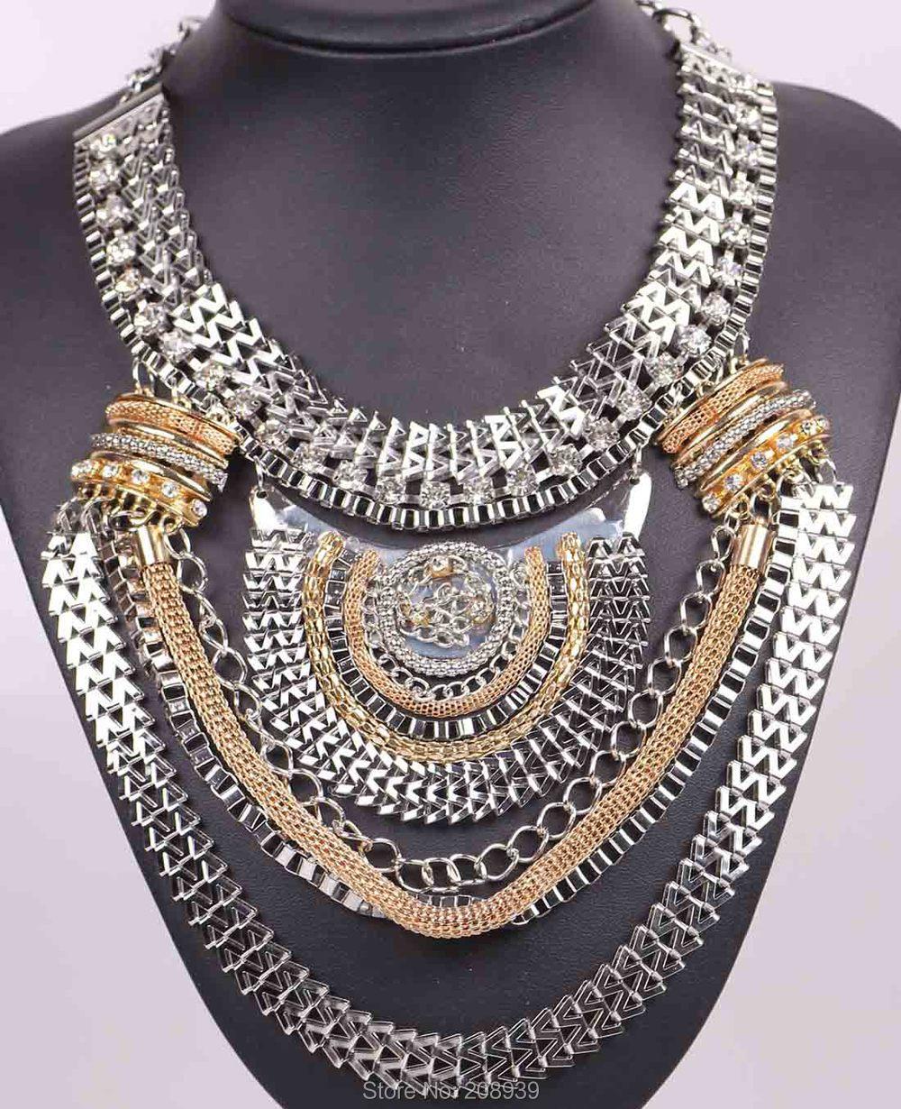 Joyería de moda hecha a mano novedosa, cadena geométrica Bohemia, collar gargantilla para mujer Q965