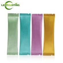 Leotrustting-sac en aluminium 30x500mm   Petit sac ouvert et coloré en aluminium 120 pièces, café, sac demballage pour les fruits et la poudre, sacs thermoscellables