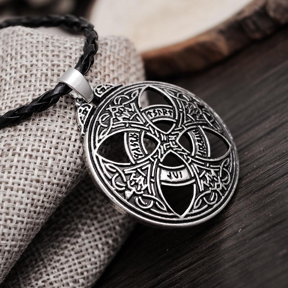 1pcs Vinkings Pendant Necklace Large Celttic Knot Love Pendant Viking Norse RUNE Pendant Necklace Wiccan Pagan Asatru Jewelry