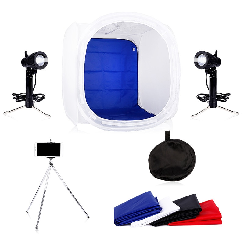 godox lst60 60 60cm lst40 40 40cm lst80 80 80cm photo studio led tabletop shooting tent portable photography light softbox Photo Studio Soft box Kit 40 x 40CM, 50 x 50CM,60 x 60CM+Photography Tabletop Led Lighting ,Light Tents Lightbox Kit With Gift